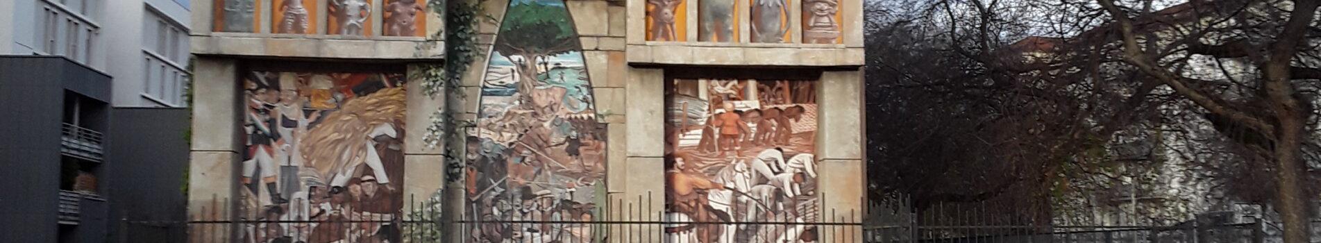 Fachada prehipánica del Espacio Diego Rivera.